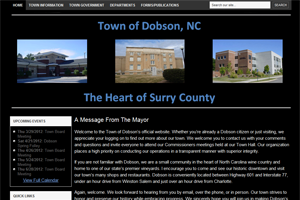 Town of Dobson NC Web Development Project