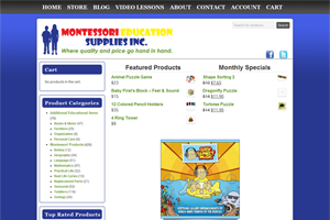 Montessori Education Supplies Web Development Project