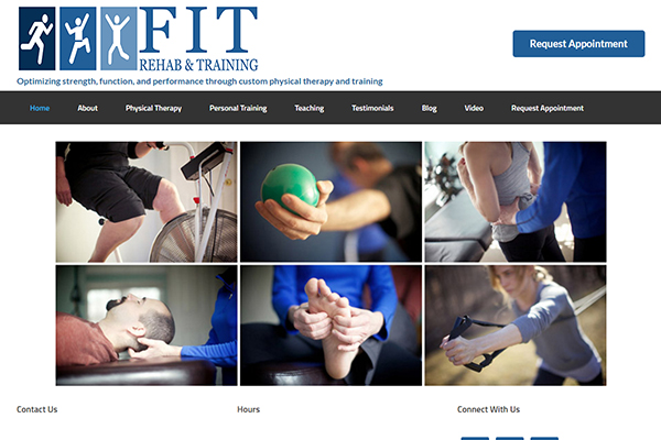 Business Website Design - Fit Rehab And Training