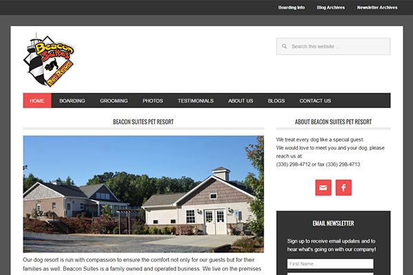 Greensboro Website Design - Beacon Suites Pet Resort