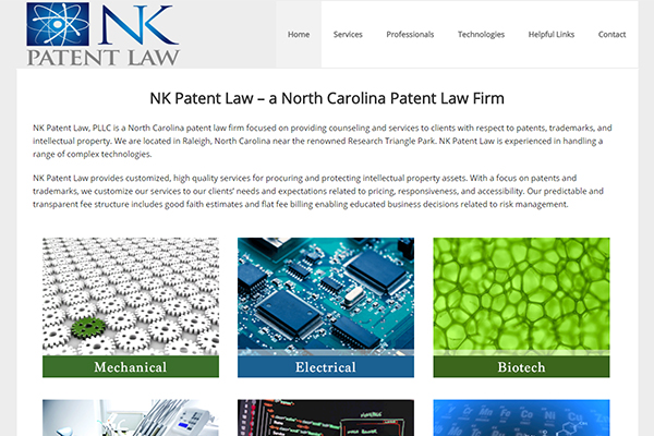 Raleigh Website Design - NK Patent Law
