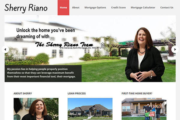 Raleigh Website Design - Sherry Riano Mortgage Services