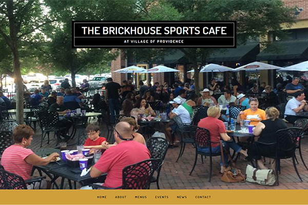 Restaurant Website Design – Brickhouse Sports Cafe